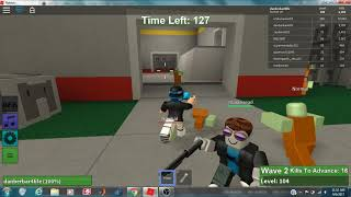 ROBLOX ZOMBIE RUSH!!! Using the pistol, shotgun, and SMG! Playing like a NOOB!