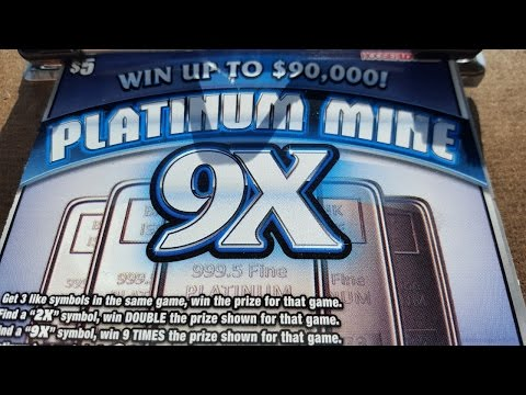 PLATINUM MINE Indiana Lottery Scratch Off Looking For Bars
