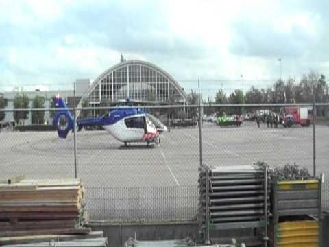 (310) KLPD Heli vertrekt vanaf Brabant-Hallen Den Bosch