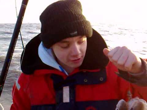 John William catches 2 x Whiting on Pennel rig