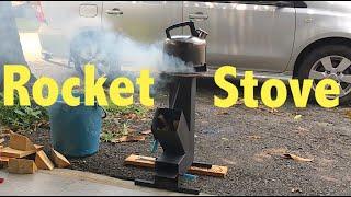 My personal DIY rocket stove for camping (Dapur untuk camping)