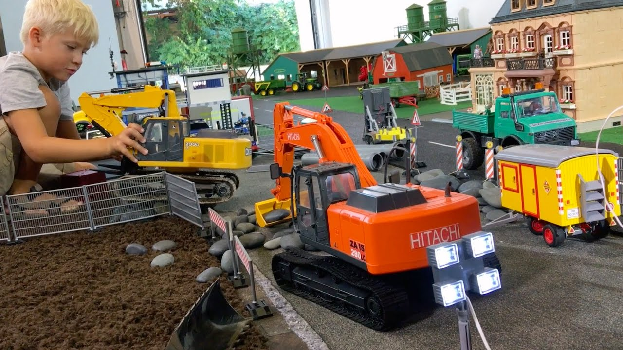 Bruder Construction Toys : Bruder construction toys for children excavators deere