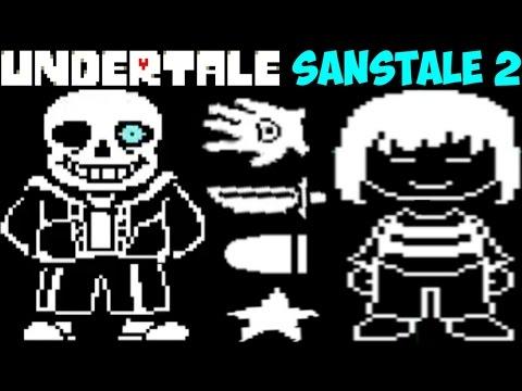 Undertale - Sanstale 2 | Бой с Chara глазами Sans'а