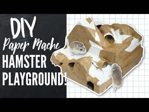 DIY Paper Mache hamster Hide/Playground!