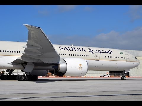 SAUDIA Airlines Boeing 777-368(ER) [HZ-AK19] Inaugural Flight to Los Angeles