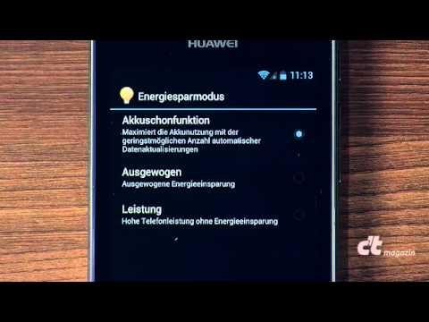 Huawei Ascend G615: Stromsparmodus & Sicherung
