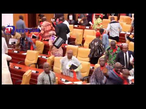 GHANA-US AGREEMENT: MINORITY WALKS-OUT FROM PARLIAMENT