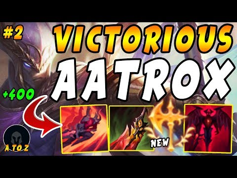"VICTORIOUS Aatrox ""NEW"" Conqueror + Death's Dance + World Ender = BIG HEAL! 