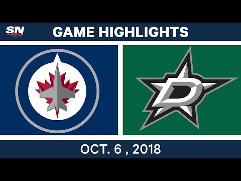 NHL Highlights | Jets vs. Stars - Oct. 6, 2018