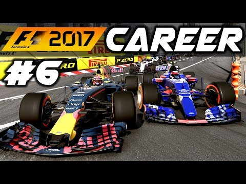 F1 2017 Career Mode Part 6: MONACO GRAND PRIX MADNESS