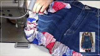레이스 앞치마 만들기 / 청바지 리폼