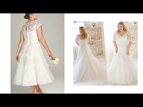 half-sleeve-plus-size-short-wedding-dresses