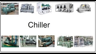 Chilled Water System Basics in Hindi II Air Cooled Chiller II Water cooled chiller