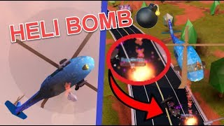 Jailbreak HELI BOMBS Update (Roblox Jailbreak New Firetruck Station)