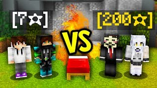 YouTubers VS 200 STAR PLAYERS! (Minecraft Bed Wars)