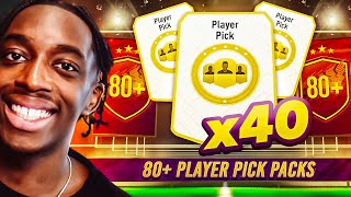 OPENING 40 X 80+ PLAYER PICKS! WE GOT A CRAZY PLAYER + A BASE ICON PACK! S2- MMT #58