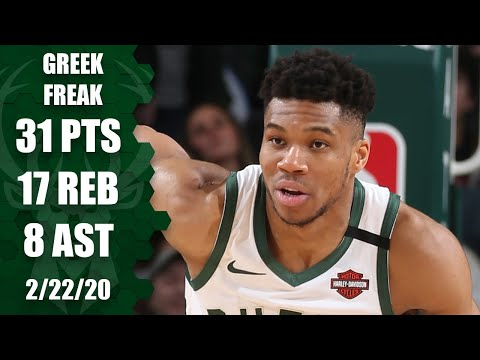 Giannis Antetokounmpo scores 31 in under 30 minutes in 76ers vs. Bucks  2019-20 NBA Highlights