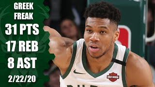 Download Giannis Antetokounmpo scores 31 in under 30 minutes in 76ers vs. Bucks | 2019-20 NBA Highlights Mp3 and Videos