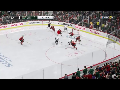BOARDING PENALTY! NHL 17 Playoffs Round 3 Gameplay - Kings @ Wild Game 3