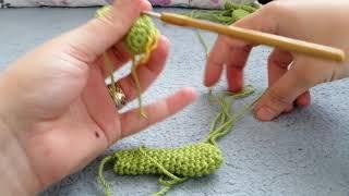 Amigurumi kurbağa yapılışı #ön bacaklar#