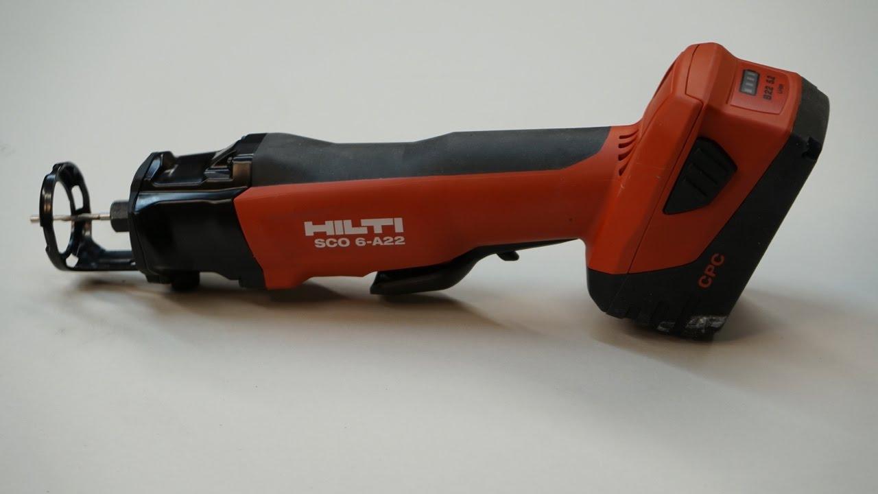 hilti 22v cordless cut out tool sco 6 a22 youtube. Black Bedroom Furniture Sets. Home Design Ideas