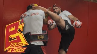 Как бить впередистоящей ногой — нокаутирующие удары, комбинации, упражнения, тренировка. Макс Дедик
