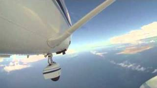Cessna 206 Flight - Camera attached outside the plane!