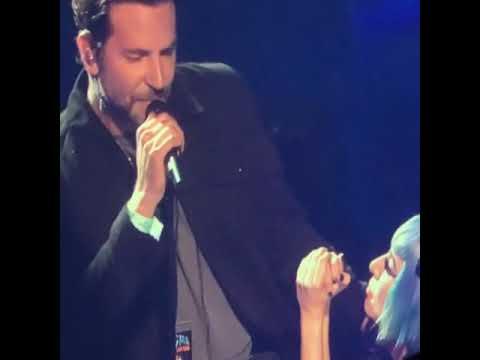 Bradley Cooper singing Shallow at Lady Gaga's Enigma ...