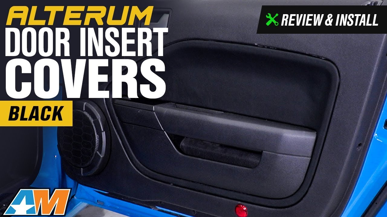 2005 2009 Mustang Alterum Door Insert Covers Review Install Youtube
