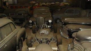 Находка ретро автомобилей в заброшенном амбаре.
