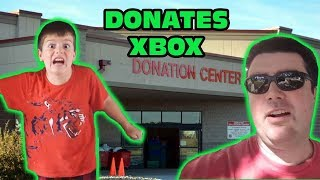 Kid Gets His Xbox Donated Prank, Throws Xbox Out Car Window Skit