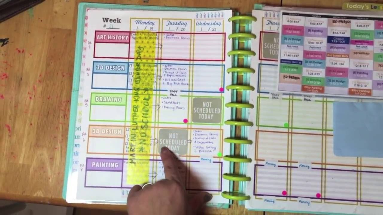 how i made a teacher planner diy planning and planner notebook inspired by erin condren youtube