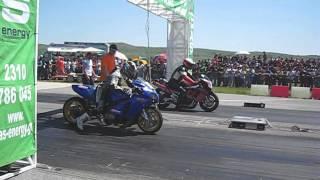 kawasaki zx12 turbo 8,4 sec dragster polykastro salvanos 2os agonas 2012