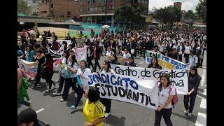 Marchas estudiantiles de este jueves: así será el recorrido - Noticias Caracol