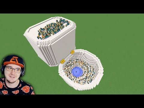 Я закрыл 100 игроков в УНИТАЗЕ в МАЙНКРАФТЕ ► ФЫВФЫВ ( Minecraft ) | Реакция