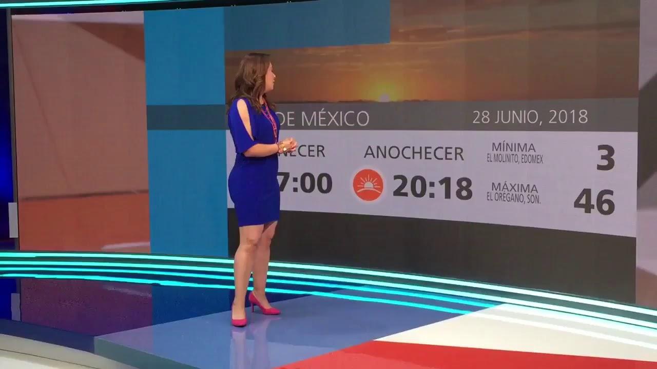 Raquel Mendez ávalos Reporte Del Clima Youtube