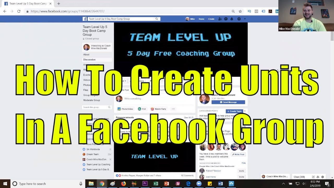 How To Create Units In A Facebook Group