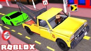 TOW TRUCK TROLL IN ROBLOX! (Roblox Fahrzeug Simulator)