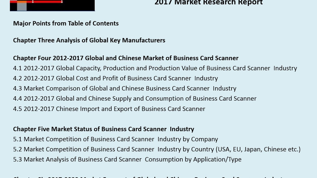 Business card scanner market 2012 2022 global key manufacturers business card scanner market 2012 2022 global key manufacturers analysis review reheart Gallery
