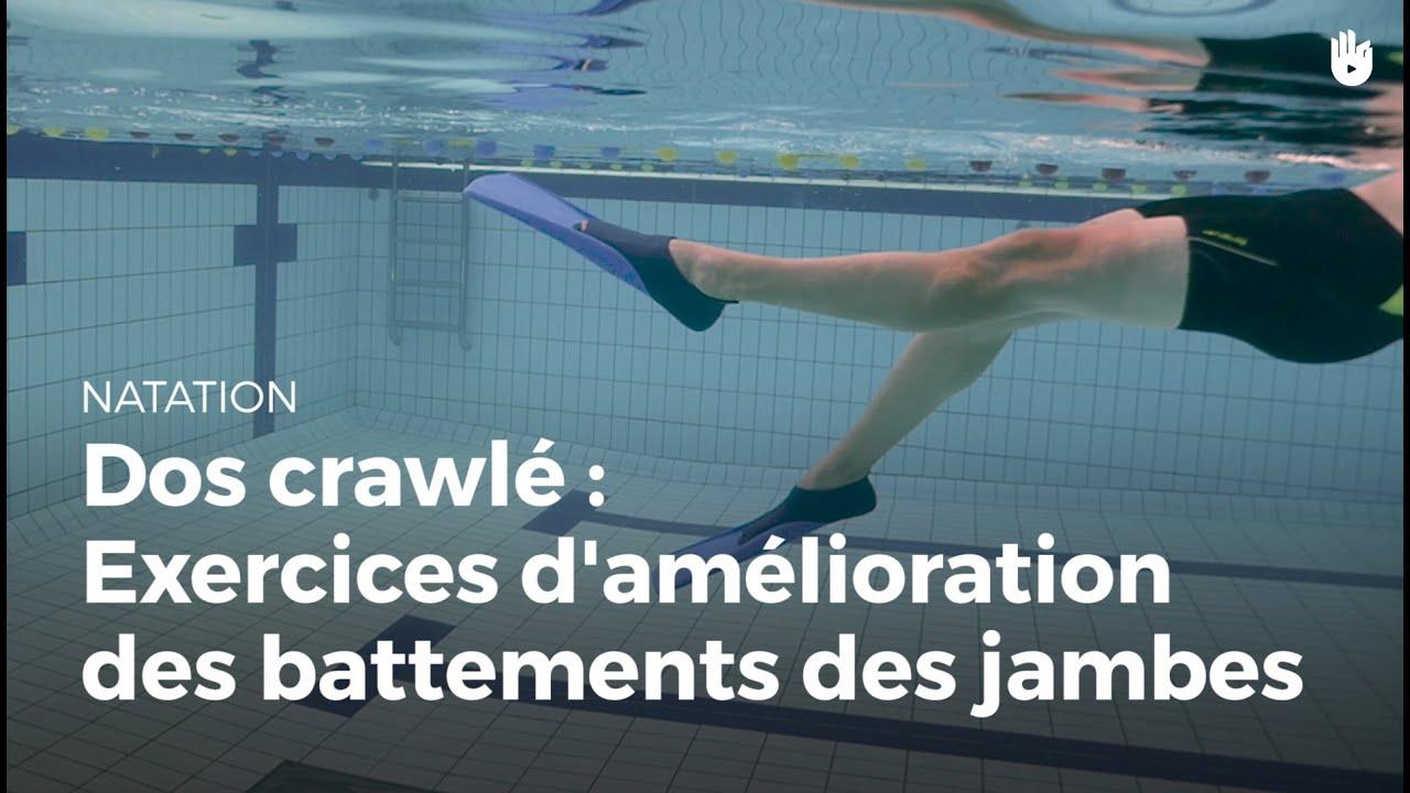 Préférence Exercice pour améliorer le mouvement des jambes | Dos crawlé - YouTube EY78