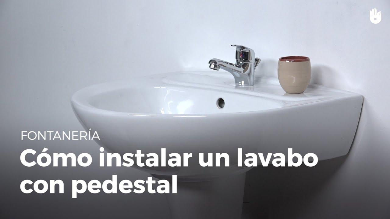 c mo instalar un lavabo con pedestal bricolaje diy youtube
