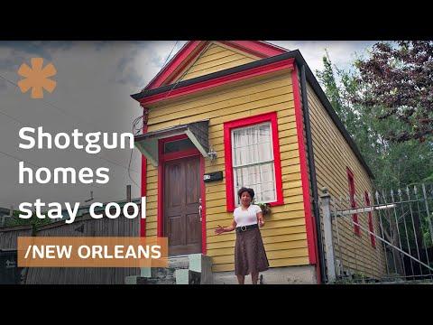 Big Easy's shotgun: cross-ventilated narrow houses stay cool