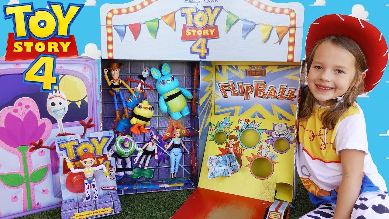 Carnival Toy Box Pink: TOY STORY 4 Box Carnival With Buzz Lightyear & Woody Games