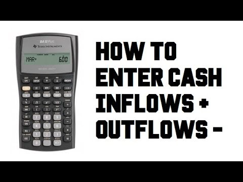 How to Enter Inflows + FV or Outflows - PV - TI BA II Plus FIN Calculator - Example Guide Tutorial