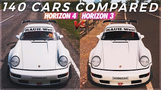 Forza Horizon 4 vs Forza Horizon 3 | 140 Cars Sounds Comparison (Sounds Updated?)