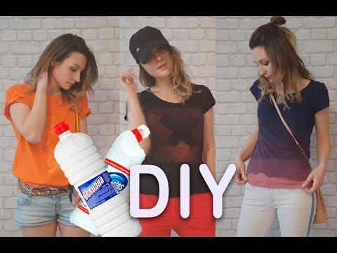 DIY | Обновляем футболки белизной