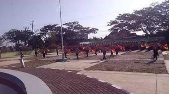 Penampilan parade semapore -  saka bakti Husada (POKER SCOUT) -SMPN 18 LAU