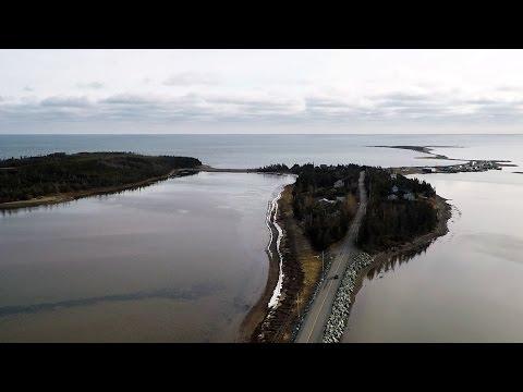 Ocean/coastline aerial video from Causeway Road, Seaforth, Nova Scotia with Storm Antigravity Drone