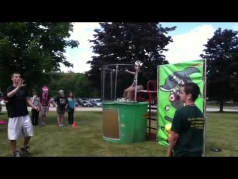 Teachers getting dunked at Miscoe hill school