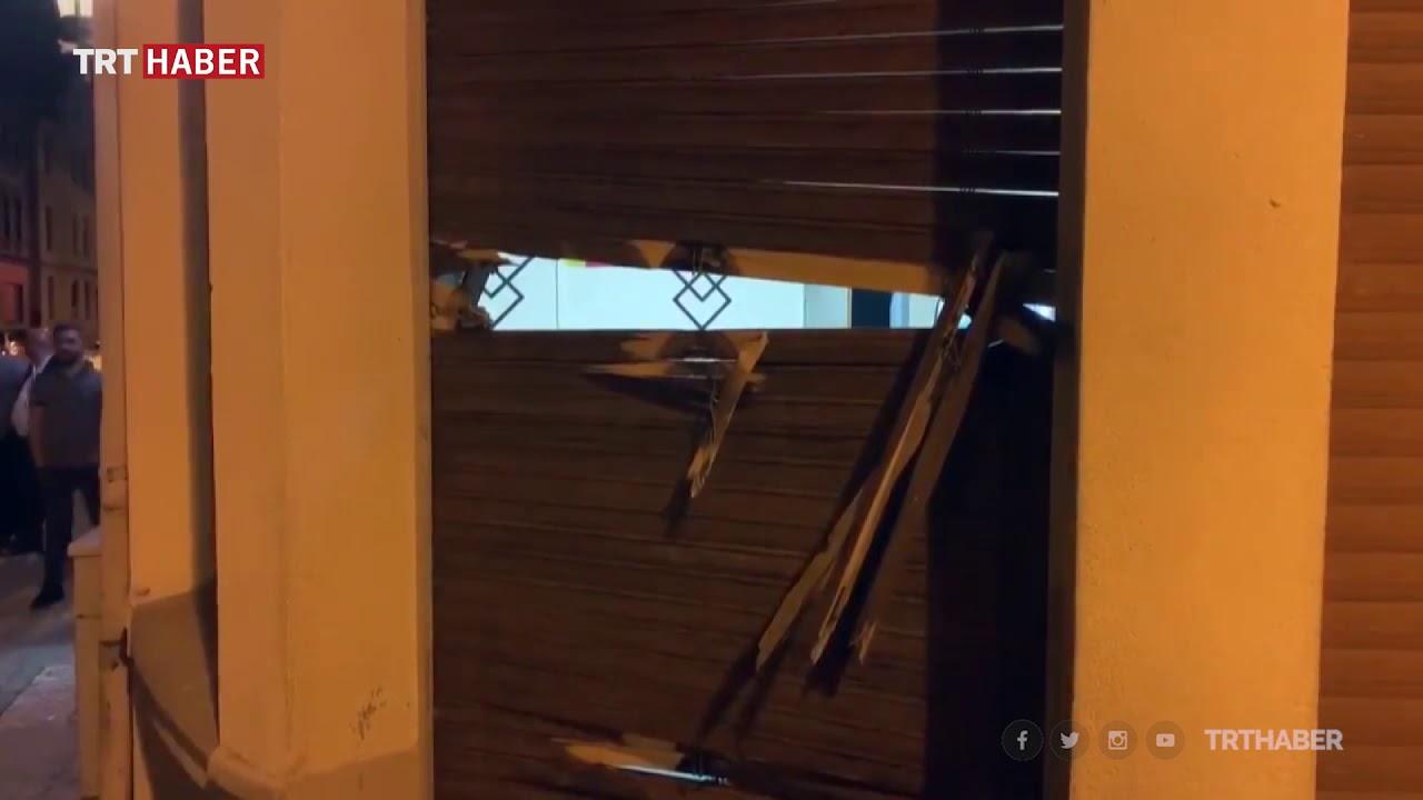 Trafiği kestiler, büyükelçilik binasını ve camileri taşladılar...